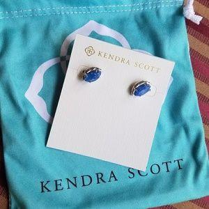 New Blue Agate Kendra Scott Studd Earrings